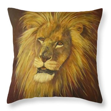 Crown Of Courage,lion Throw Pillow