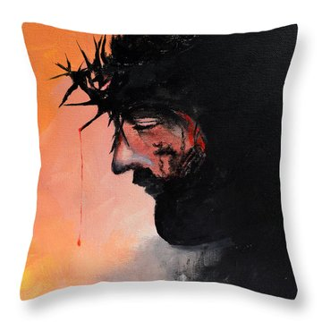 Blood Of The Redeemer Throw Pillow by Gary Smith