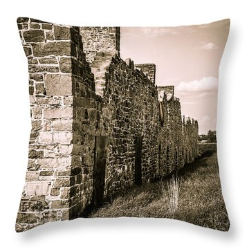 Crown Point New York Old British Fort Ruin Throw Pillow