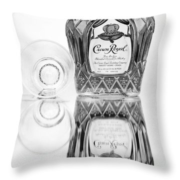 Crown Royal Black And White Throw Pillow