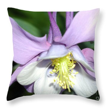 Crowned In Purple Throw Pillow