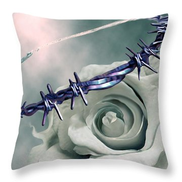 Crowned Throw Pillow by Jennifer Kathleen Phillips