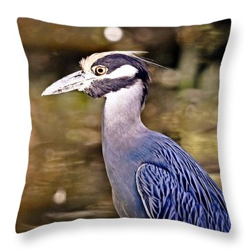 Crowned One Throw Pillow by Marty Koch