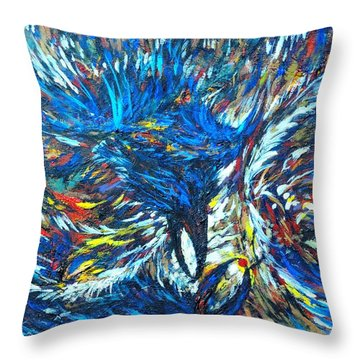 Throw Pillow featuring the painting Crows by Charles Munn