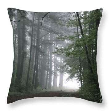 Crows In The Woods Throw Pillow