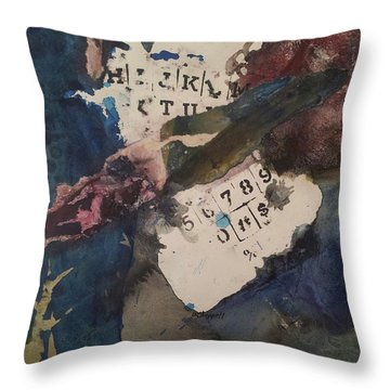 Cruci What Throw Pillow by Becky Chappell