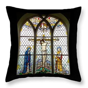 Crucified Throw Pillow by Ann Horn