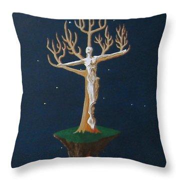 Crucifix 2 Throw Pillow by Steve  Hester
