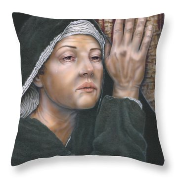 Crucifixion- Mothers Pain Throw Pillow
