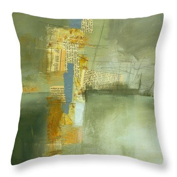 Cruciform Study Neutral Throw Pillow by Jane Davies