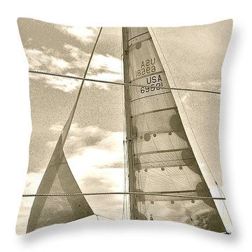 Cruise On Wind Throw Pillow