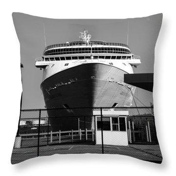 Cruise Ship Still Life Throw Pillow by Bob Orsillo