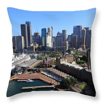 Cruiser Ship In Sydney Throw Pillow