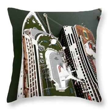 #cruiseship #high #harbour #ship #photo Throw Pillow