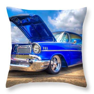 Cruisin' In Blue Throw Pillow