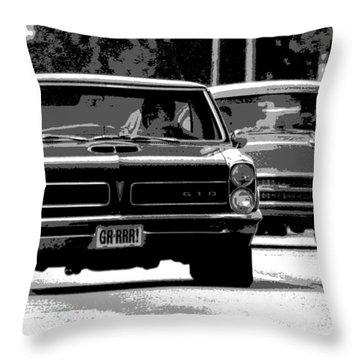 Cruisin' Woodward Throw Pillow by Gordon Dean II
