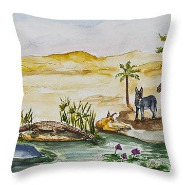 Cruising Along The Nile Throw Pillow