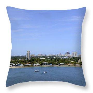 Cruising Fort Lauderdale Throw Pillow