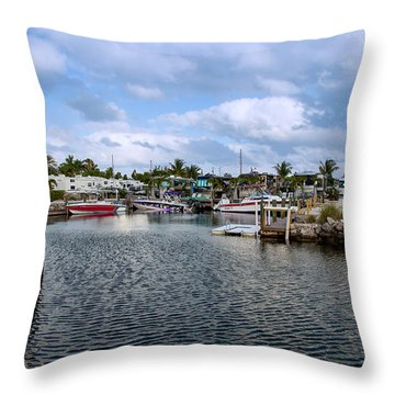 Cruising Into Camp Throw Pillow