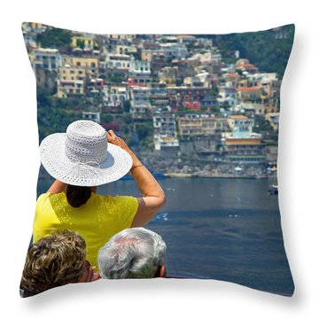Cruising The Amalfi Coast Throw Pillow by Keith Armstrong