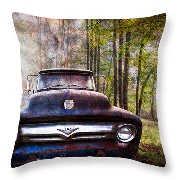 Cruising The Back Roads Throw Pillow
