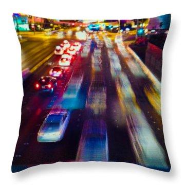 Cruising The Strip Throw Pillow by Alex Lapidus