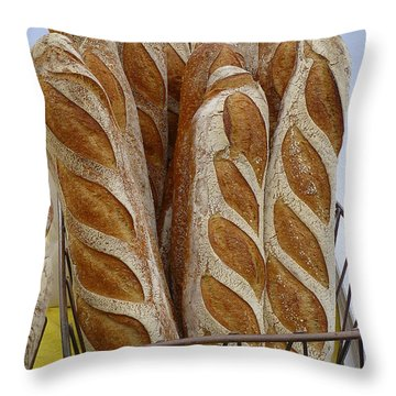 Crusty Bread Throw Pillow by Dee Flouton