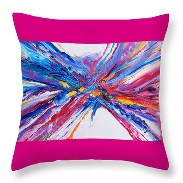 Crux Throw Pillow by Expressionistart studio Priscilla Batzell