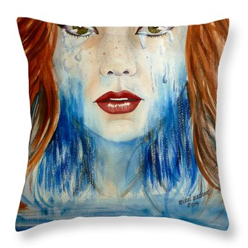Crying A River Throw Pillow