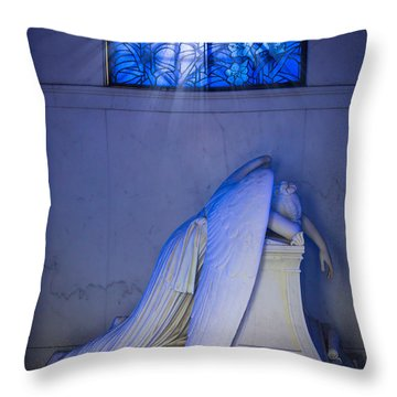 Crying Angel Throw Pillow by Inge Johnsson