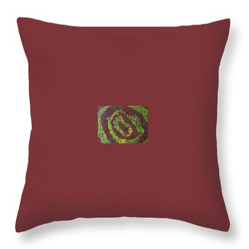 Throw Pillow featuring the painting Crying Rocks by Jonathon Hansen