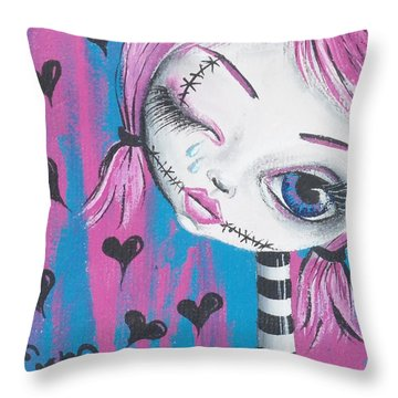 Crying Zombie Throw Pillow