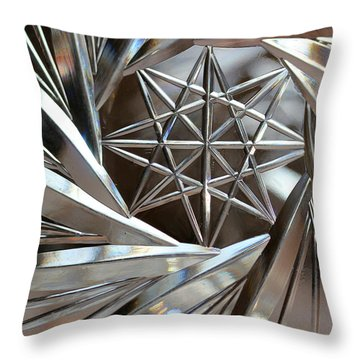 Crystal Abstract Throw Pillow