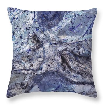 Crystal And Blue Persuasions Abstract I Throw Pillow