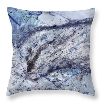 Crystal And Blue Persuasions Abstract II Throw Pillow