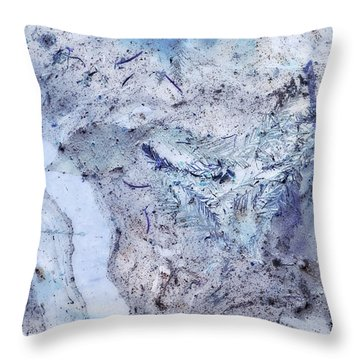 Crystal And Blue Persuasions Abstract IIi Throw Pillow