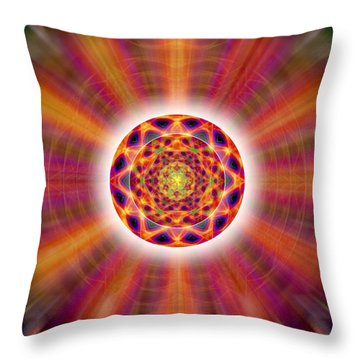 Throw Pillow featuring the drawing Crystal Ball Of Light by Derek Gedney