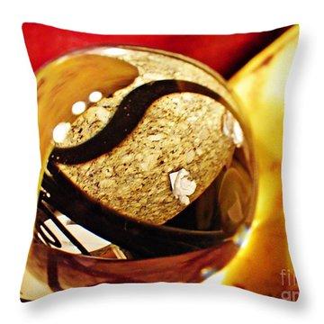 Crystal Ball Project 113 Throw Pillow by Sarah Loft