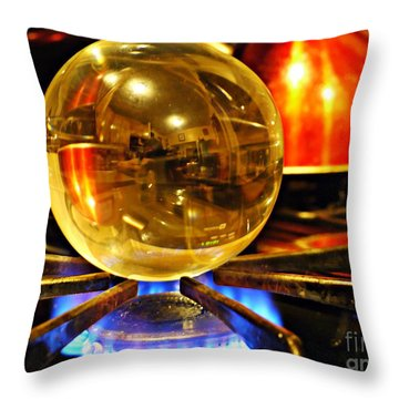 Crystal Ball Project 5 Throw Pillow
