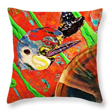 Crystal Ball Project 85 Throw Pillow by Sarah Loft