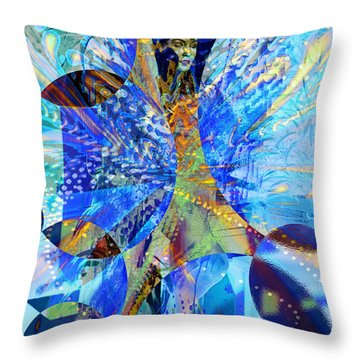 Crystal Blue Persuasion Throw Pillow by Seth Weaver