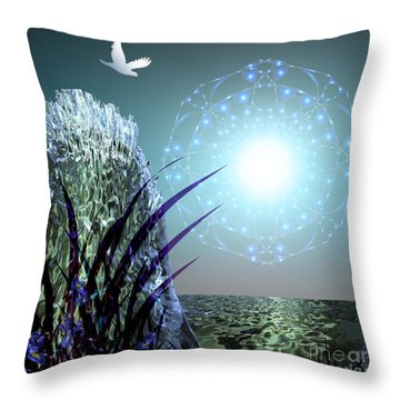 Crystal Breathing Rock Throw Pillow