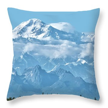 Crystal Clear Mt. Mckinley Throw Pillow