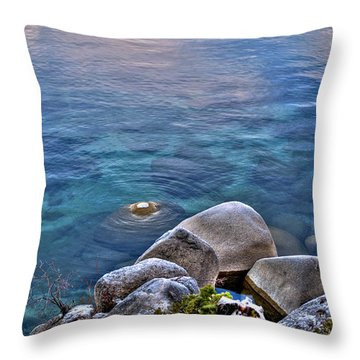 Crystal Clear Sand Harbor Throw Pillow by William Havle