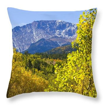 Crystal Creek Autumn Throw Pillow