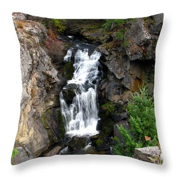 Crystal Falls Throw Pillow by Greg Patzer