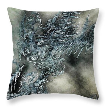 Throw Pillow featuring the digital art Crystal Heaven by Steven Richardson