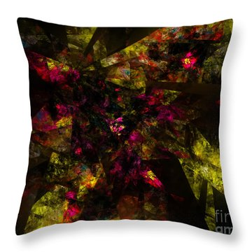 Throw Pillow featuring the digital art Crystal Inspiration #1 by Olga Hamilton