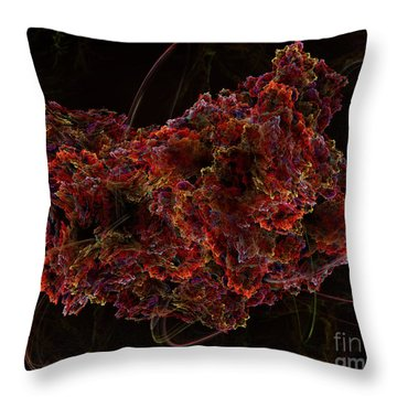 Throw Pillow featuring the digital art Crystal Inspiration #2 by Olga Hamilton
