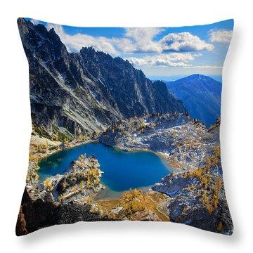 Crystal Lake Throw Pillow by Inge Johnsson